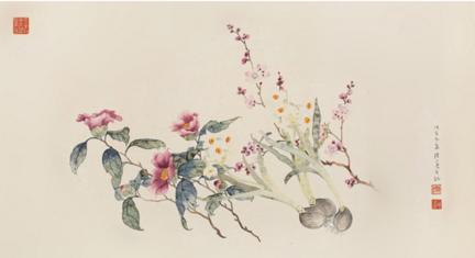 陆小曼 花卉图